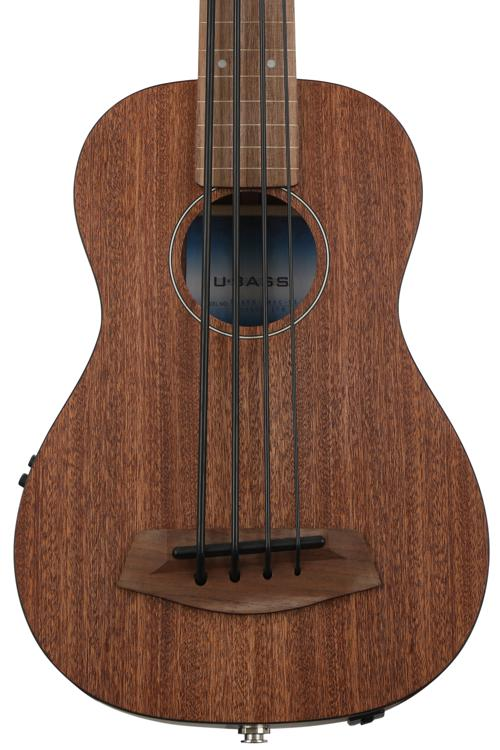 Kala U-Bass Mahogany, Fretless - Natural image 1