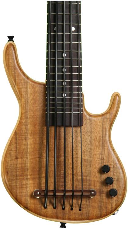 Kala U Bass Exotic Custom Solid-Body U-Bass - Figured Koa Top, 5-String, Fretted image 1