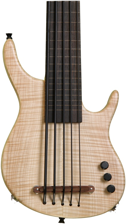 Kala Exotic Custom Solid-Body U-Bass w/MiSi pickup - Figured Maple top, 5-String, Fretless image 1