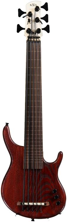 Kala Solid Body U-Bass - 5-String, Fretless, Satin Red image 1