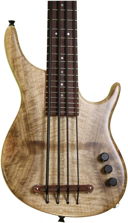 Kala U Bass Exotic Custom Figured Myrtlewood top - 4 String Fretted image 1
