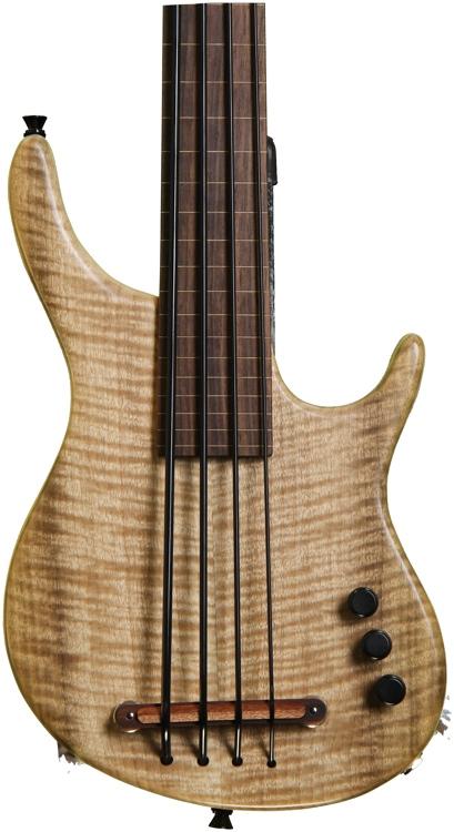 Kala Exotic Figured Myrtlewood top w/MiSi pickup - 4 String Fretless image 1