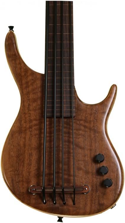 Kala U Bass Exotic Custom Figured Walnut top - 4 String Fretless image 1