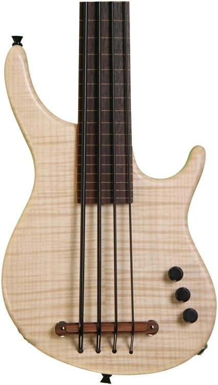 Kala Exotic Custom Figured Maple top w/MiSi pickup - 4 String Fretless image 1