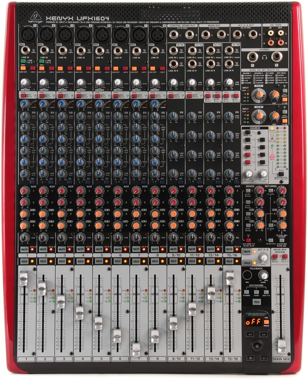 behringer xenyx ufx1604 mixer and usb audio interface with effects sweetwater. Black Bedroom Furniture Sets. Home Design Ideas