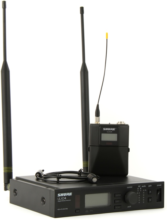 Shure ULXD14/84 Wireless Lavalier System - G50 Band, 470-534 MHz image 1