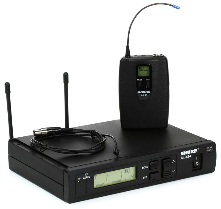 Shure ULXS14/93 Wireless Lavalier System - G3 Band, 470-505 MHz image 1