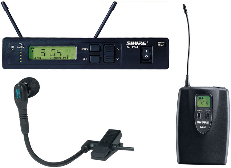 Shure ULXS14/98H Wireless Lavalier System - G3 Band, 470-505 MHz image 1