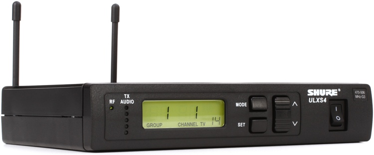 Shure ULXS4 Wireless Receiver - G3 Band, 470 - 505 MHz image 1