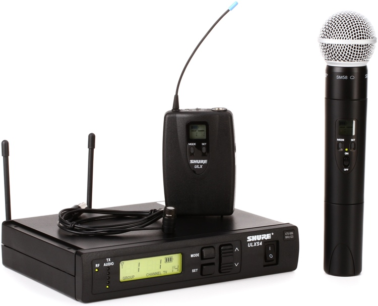Shure ULXS124/85 Combo Wireless System - G3 Band, 470-505MHz image 1