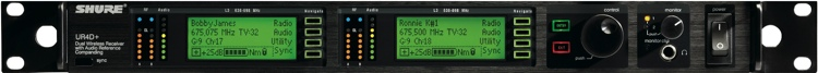 Shure UR4D+ - G1 Band, 470 - 530 MHz image 1
