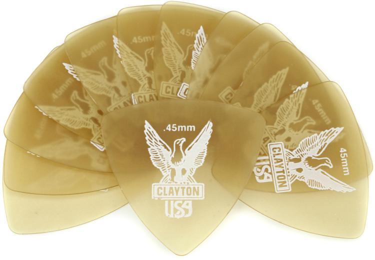Clayton Ultem Rounded Triangle Picks 12-pack .45mm image 1