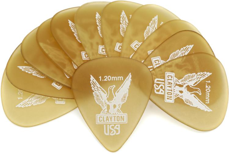 Clayton Ultem Standard Picks 12-pack 1.20mm image 1