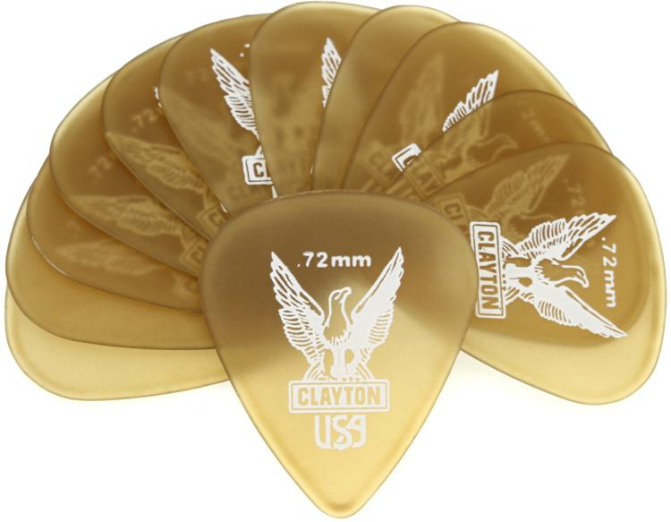 Clayton Ultem Standard Picks 12-pack .72mm image 1