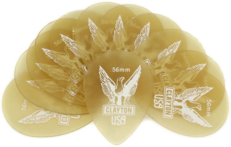 Clayton Ultem Small Teardrop Picks 12-pack .56mm image 1