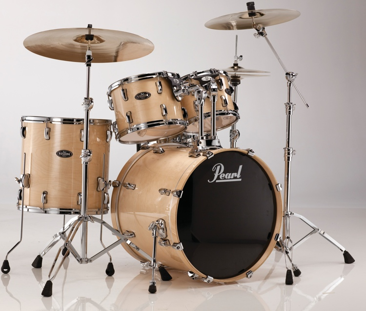Pearl Vision Birch VBL 5-Piece Kit - Clear Birch image 1