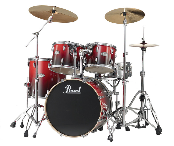 pearl vision birch vbx 5 piece drum kit ruby fade sweetwater. Black Bedroom Furniture Sets. Home Design Ideas