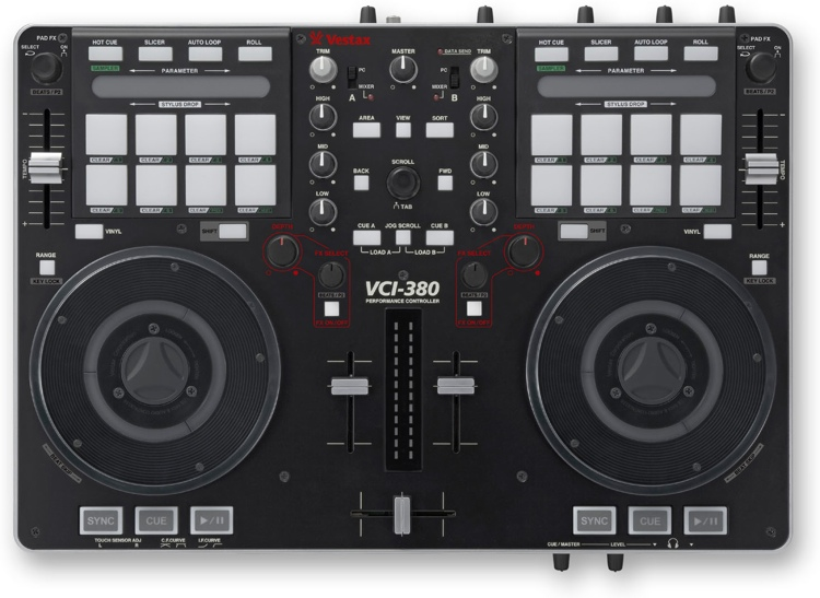 Vestax VCI-380 2-channel DJ Controller and Mixer image 1