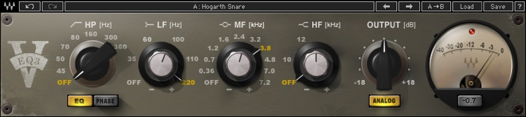 Waves V-EQ3 Plug-in - Native image 1