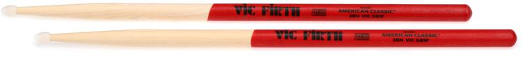Vic Firth American Classic Drumsticks With Vic Grip - 5B - Nylon Tip image 1