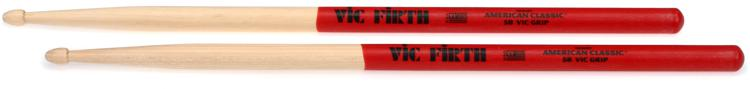 Vic Firth American Classic Drumsticks With Vic Grip - 5B - Wood Tip image 1