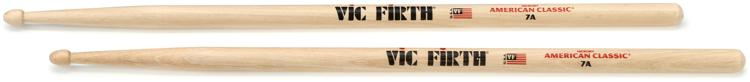 Vic Firth American Classic Drum Sticks - 7A - Wood Tip image 1