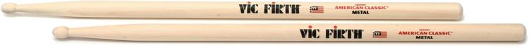 Vic Firth American Classic Drum Sticks - Metal - Wood Tip image 1