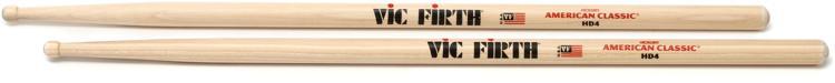 Vic Firth American Classic Drum Sticks - HD4 - Wood Tip image 1
