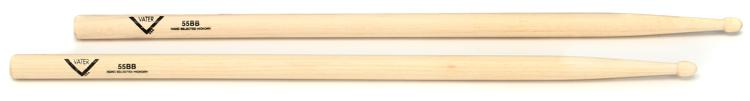 Vater American Hickory Drumsticks - 55BB - Wood Tip image 1