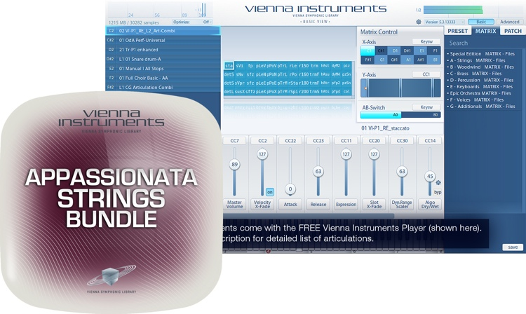 Vienna Symphonic Library Appassionata Strings Bundle - Extended Library image 1