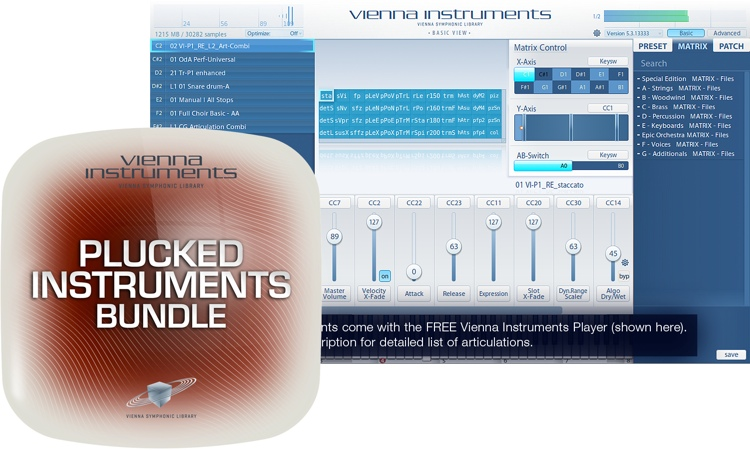 Vienna Symphonic Library Plucked Instruments Bundle - Standard Library image 1