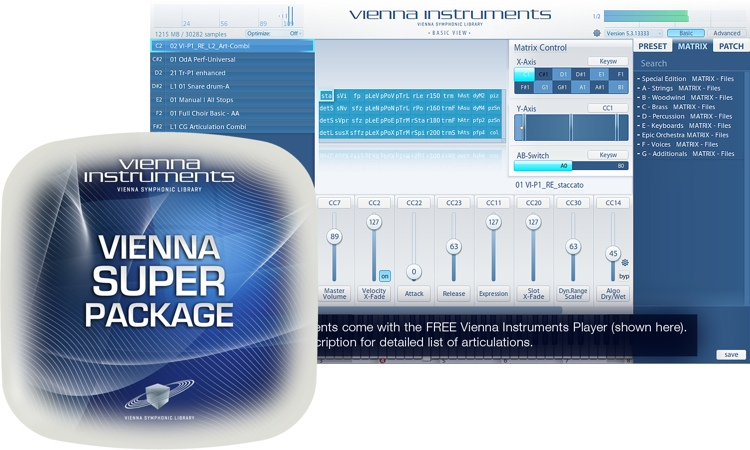 Vienna Symphonic Library Vienna Instruments Super Package - Standard Library image 1