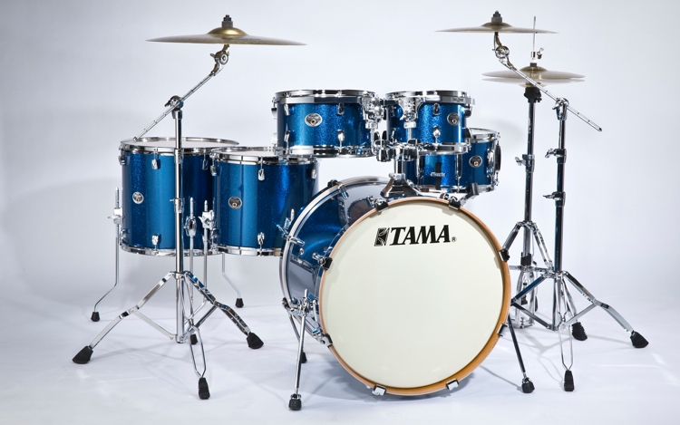 Tama Silverstar Hyper-Drive Limited Edition Shell Pack - Indigo Sparkle image 1