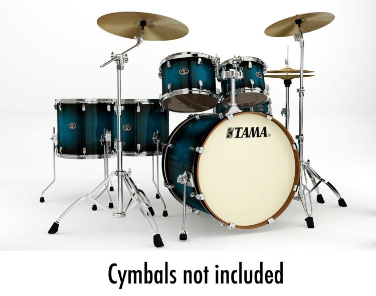 Tama Silverstar Custom 6-Piece Drum Kit - Transparent Blue Burst image 1