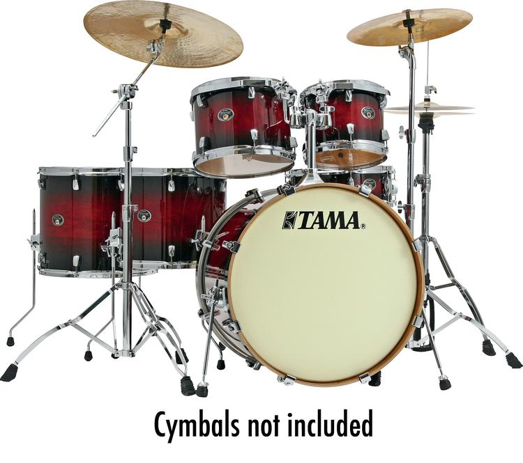 Tama Silverstar Custom 6-Piece Drum Kit - Transparent Red Burst image 1