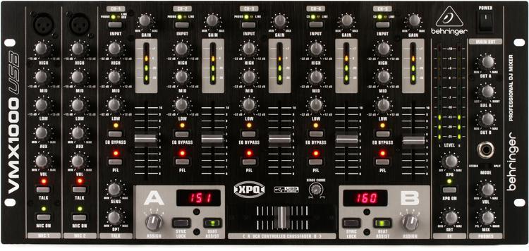 Behringer Pro Mixer VMX1000USB 5-channel DJ Mixer image 1