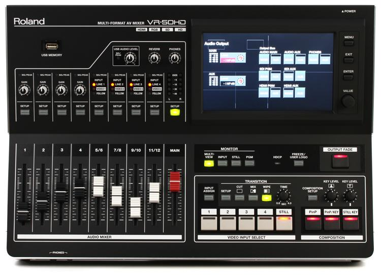 Roland VR-50HD Multi-Format AV Mixer image 1