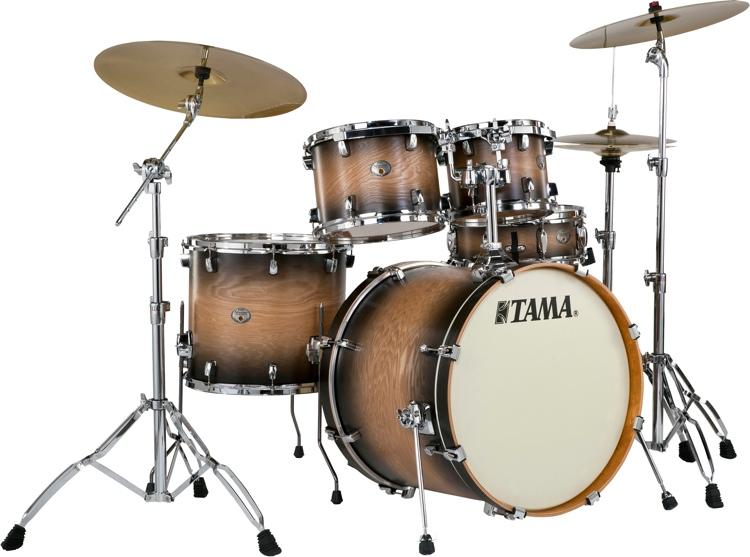 Tama Silverstar Custom 5-Piece Drum Kit - LTD Dark Desert Tamo Ash image 1