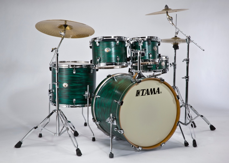 Tama VT52KS Silverstar Shell Kit LTD - Satin Green Tamo Ash image 1