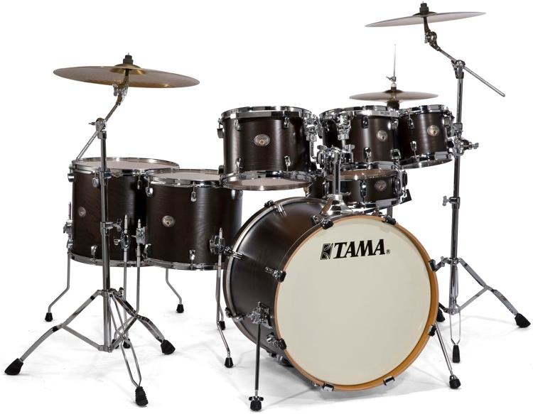 Tama Silverstar Limited Tamo Ash 6-Piece Shell Pack - Satin Black image 1