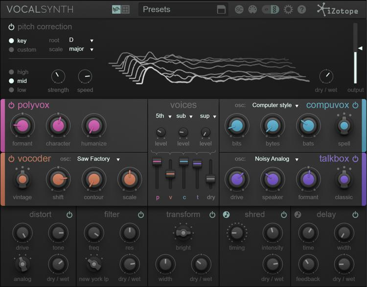 iZotope VocalSynth Vocal Multi-Effects Plug-in image 1