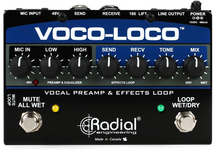 Radial Voco Loco Microphone Effects Loop & Switcher for Guitar Effects image 1
