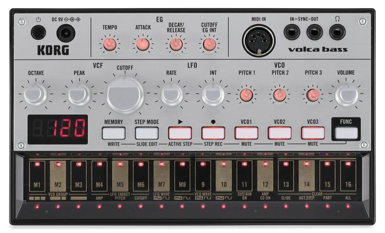 Korg Volca Bass Analog Bass Synth Module and Sequencer image 1
