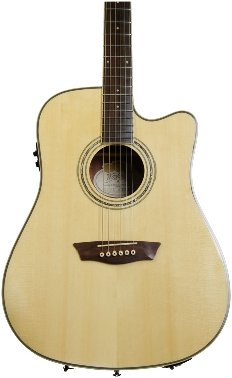 Washburn WCD18CE Comfort Select Dreadnought - Natural image 1