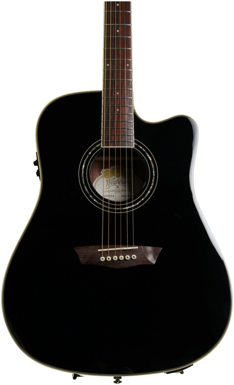 Washburn WCD18CE Comfort Select Dreadnought - Black image 1