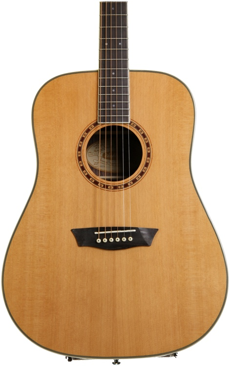 Washburn WD21S Tahoe Series Acoustic Guitar - Natural image 1