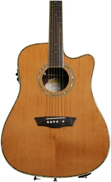 Washburn WDFLB26SCE Forrest Lee Bender - Natural with Dot Inlays image 1