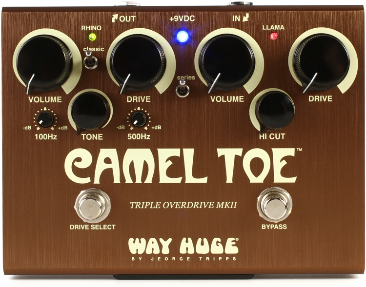 Way Huge Camel Toe Mkii Triple Overdrive Pedal Sweetwater