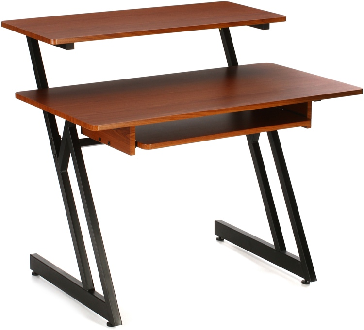 On-Stage Stands WS7500 Wooden Workstation - Rosewood image 1