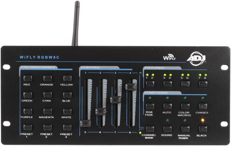 ADJ WiFLY RGBW 8C 64-ch Wireless DMX Lighting Controller image 1